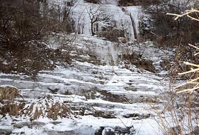 冬季冰瀑景观