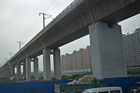 高铁桥梁建筑摄影