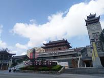 蓝天白云下的时光贵州景区