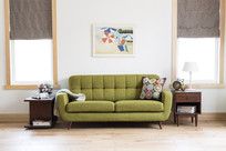 绿色沙发情景