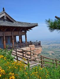 山顶的土木建筑摄影