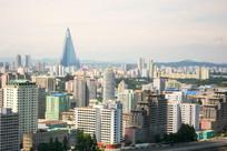 朝鲜平壤的城市风光