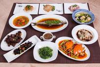 海鲜蔬菜拼桌