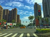 惠州演达大道红绿灯路口