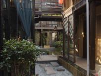 木制结构建筑特色客栈