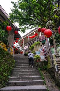 台湾九份山城的台阶路
