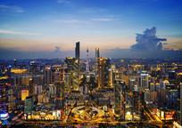 广州花城广场城市夜景