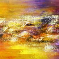 黄色调抽象画
