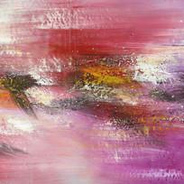 现代装饰画 紫色调抽象油画
