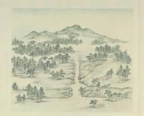 张若澄燕山八景图册蓟门烟树