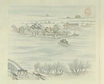 张若澄燕山八景图册太液秋风