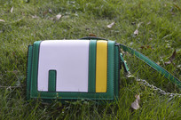 草坪上的小方包