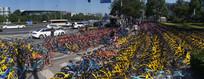 北京街头的共享单车
