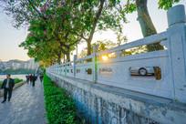 惠州南湖边的道路