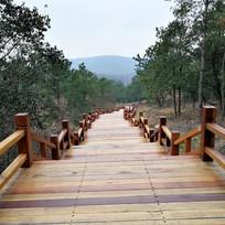 无想山木质台阶