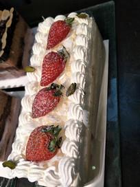 草莓奶油蛋糕近拍