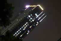 灯火辉煌的夜景城市