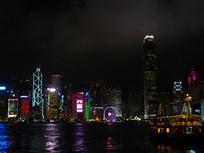 香港夜景湾仔码头