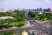 银川城市街道景观