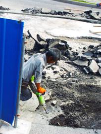 城市建设的施工工人