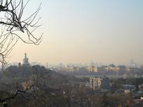 俯瞰北京的城市一角