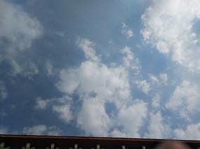蓝天白云摄影图库