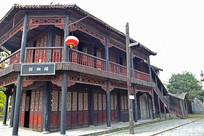 老式街道楼阁建筑摄影