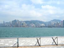 香港维多利亚港一角