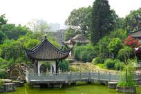 中式水榭亭台