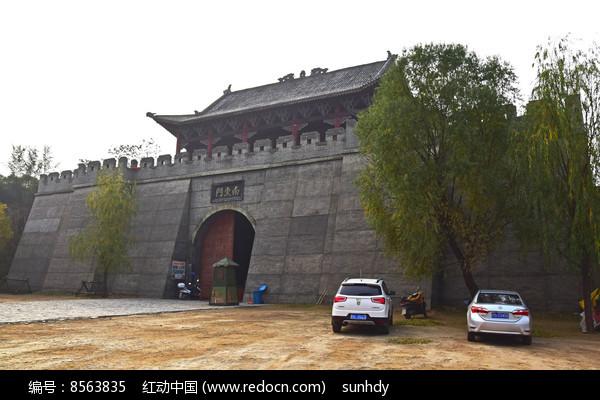 城门楼古迹摄影图片
