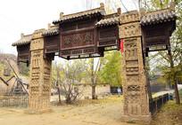 清朝村寨的寨门建筑