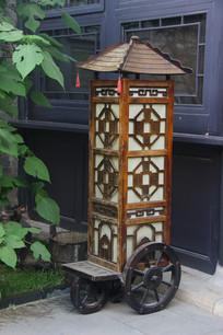 古代车子造型灯笼