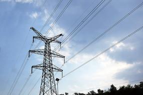 双回路电线塔高清图
