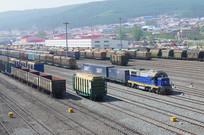 绥芬河口岸货运列车