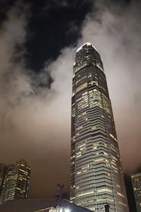 夜晚香港中银大厦