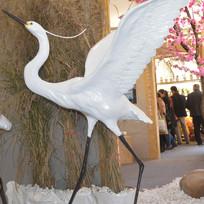 展翅飞翔仙鹤雕塑