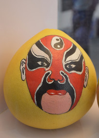 中国风脸谱柚子