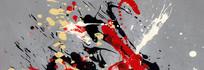 背景抽象油画