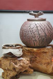 柴烧茶叶罐