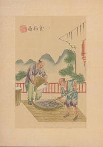 茶景全图 食花图