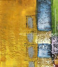 金色抽象油画