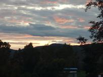 落日时分的云彩