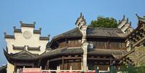 青瓦古建筑摄影图