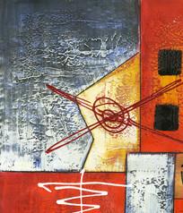 色块装饰抽象油画