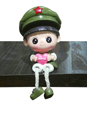 是爱小军人陶艺娃娃