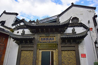 铜雕古建筑门楼
