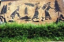 彝族背景墙画