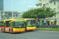两辆厦门的公共汽车