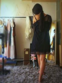 女人的背影