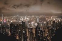 夜晚的香港太平山